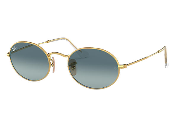 Ray-Ban 0RB3547-OVAL Gold SUN