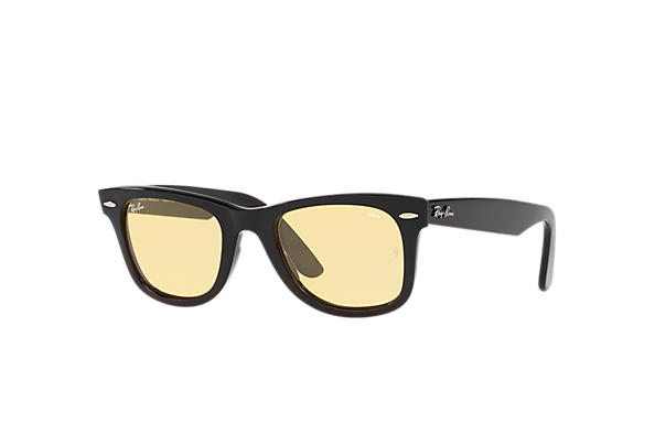 Ray-Ban Sunglasses WAYFARER WASHED EVOLVE- Holiday Exclusive Edition Black with Yellow Photochromic Evolve lens