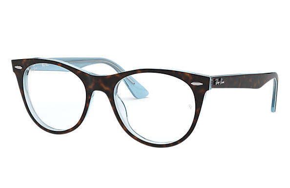 Ray-Ban 0RX2185V-WAYFARER II OPTICS Tortoise,Light Blue OPTICAL