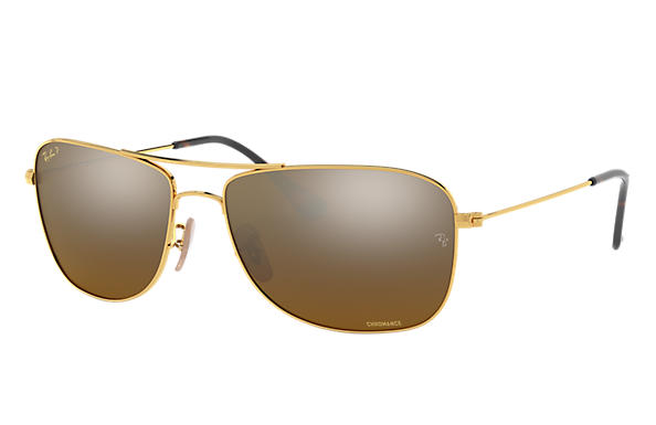 Ray-Ban 0RB3543-RB3543 Chromance Gold SUN