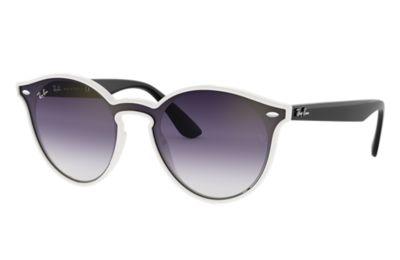 Comprar Ray-Ban Gafas-de-sol BLAZE RB4380N Blanco con lente Violeta/Azul Degradada espejada