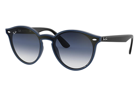 Ray-Ban Sunglasses BLAZE RB4380N Blue with Blue Gradient Mirror lens