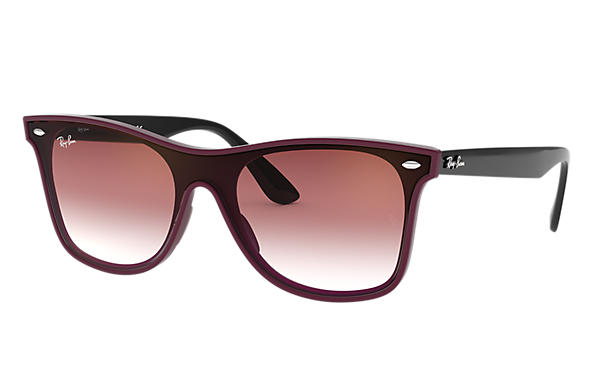 Ray-Ban 0RB4440N-BLAZE WAYFARER Bordeaux; Black SUN