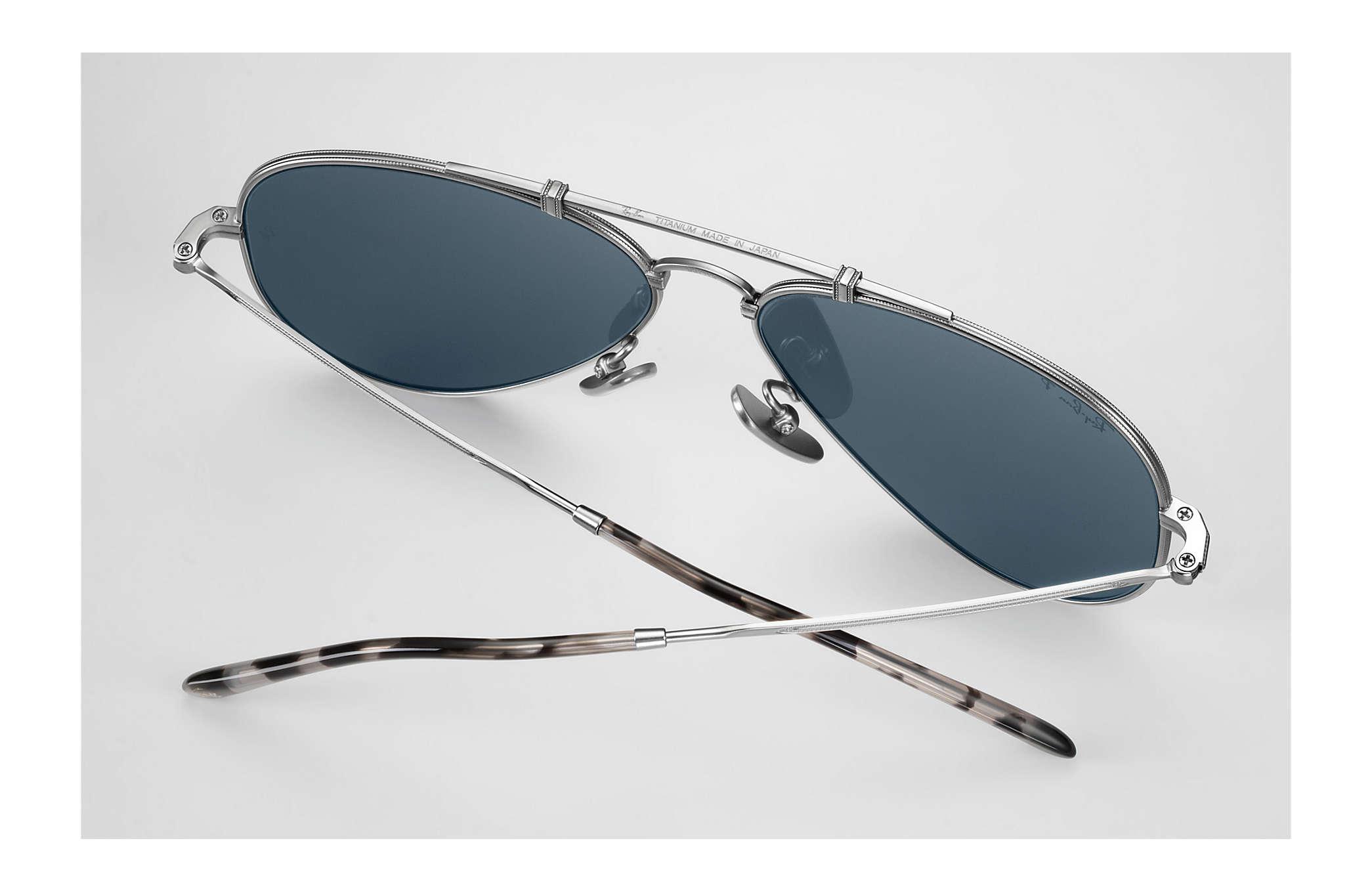 463ce30238 ... ireland ray ban 0rb8125m aviator titanium matte silver sun 849b5 19a05
