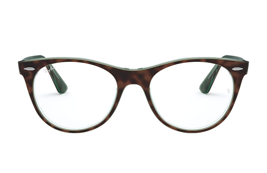 Ray-Ban  eyeglasses RX2185VF MALE 002 wayfarer ii optics 호피색 8056597038836