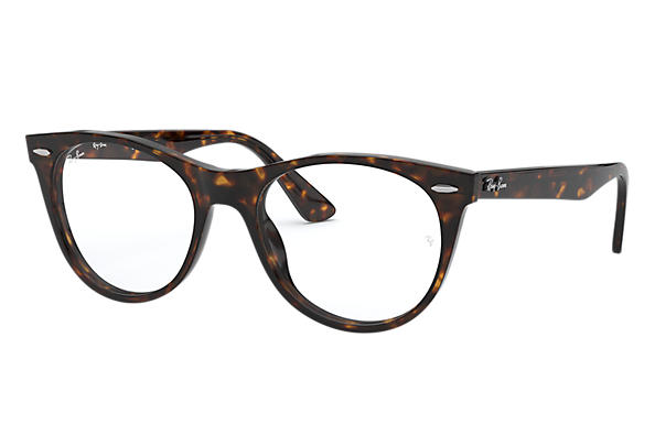 레이밴 Eyeglasses WAYFARER II OPTICS 호피색