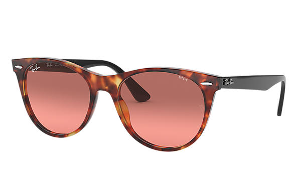 Ray-Ban 0RB2185-WAYFARER II WASHED EVOLVE Red Havana; Black SUN