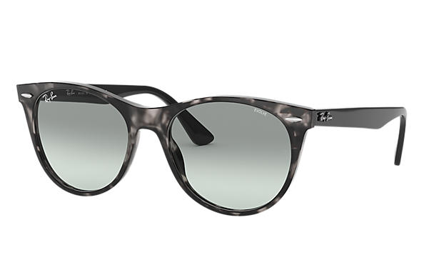 Ray-Ban Sunglasses WAYFARER II EVOLVE Grey Havana with Light Blue Photochromic Evolve lens