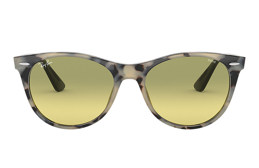 Ray-Ban  sunglasses RB2185 UNISEX 006 wayfarer ii washed evolve beige havana 8056597039123