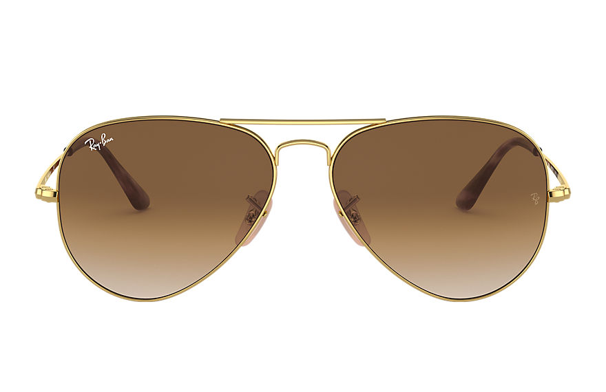 Ray-Ban  sunglasses RB3689 UNISEX 007 rb3689 złoty 8056597041928