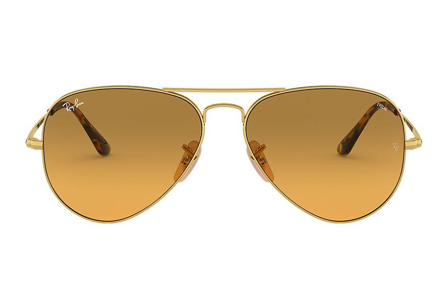 Ray-Ban  sonnenbrillen RB3689 MALE 004 rb3689 washed evolve gold 8056597041966
