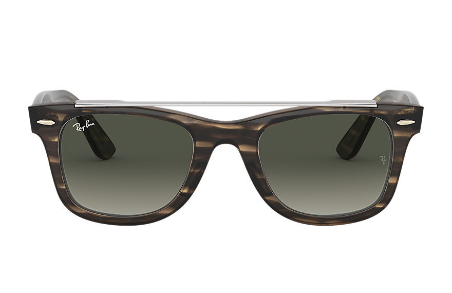 Ray-Ban  sunglasses RB4540F MALE 001 wayfarer double bridge 條紋棕色 8056597042604