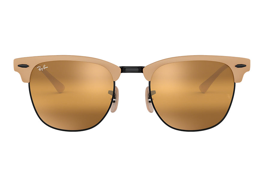 Ray-Ban  oculos de sol RB3716 MALE 003 clubmaster metal marrom claro 8056597043847