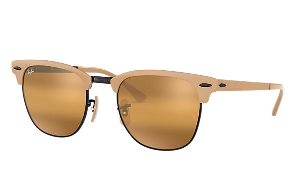 Ray-Ban 0RB3716-CLUBMASTER METAL Light Brown,Black SUN