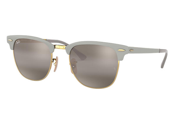 Ray-Ban 0RB3716-CLUBMASTER METAL Gris,Or SUN