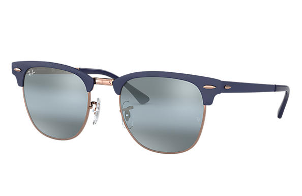 4904afcf19acb Ray-Ban Clubmaster Metal RB3716 Dark Blue - Metal - Blue Lenses ...