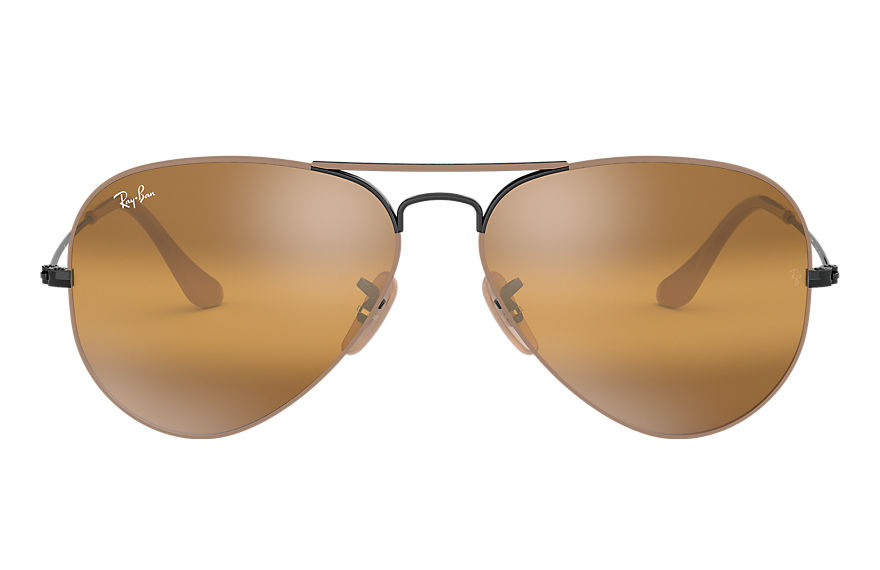 Ray-Ban  sonnenbrillen RB3025 MALE 013 aviator mirror hellbraun 8056597044318