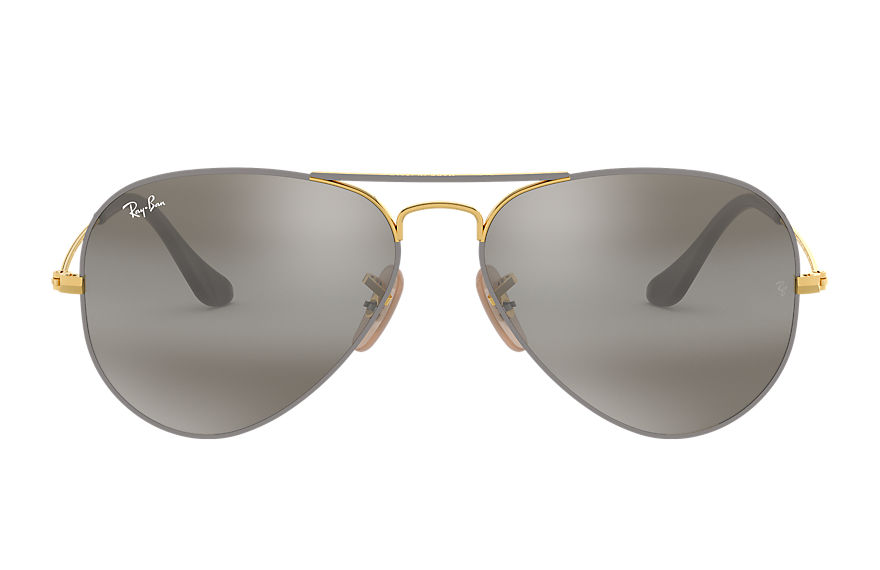 Ray-Ban  sonnenbrillen RB3025 MALE 014 aviator mirror grau 8056597044325