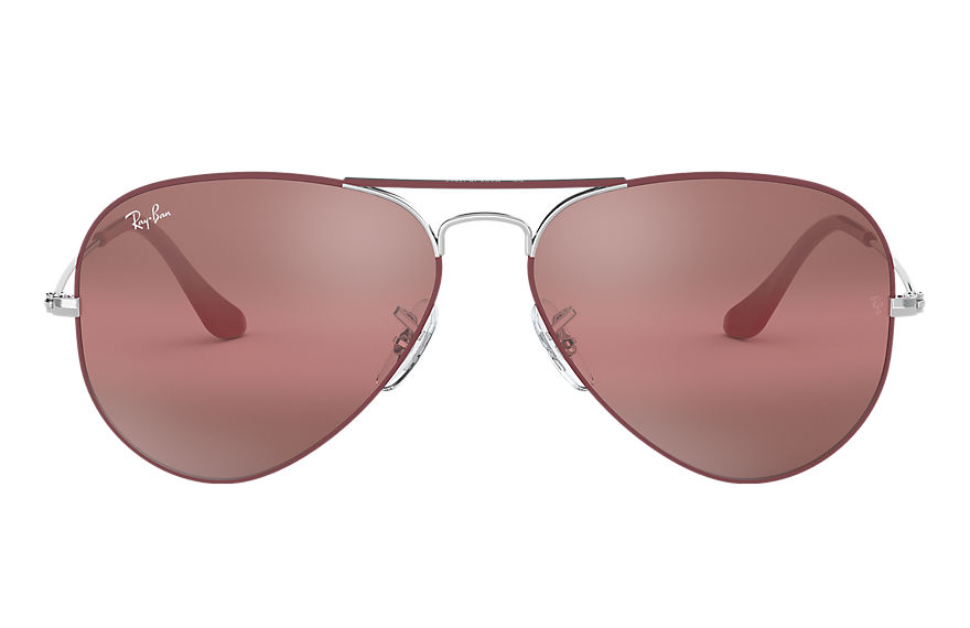 Ray-Ban  sonnenbrillen RB3025 MALE 012 aviator mirror bordeaux 8056597044455
