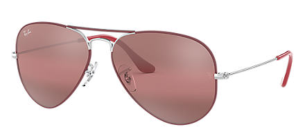 7178afb67070 Ray-Ban AVIATOR MIRROR Bordeaux with Purple Photocromic lens