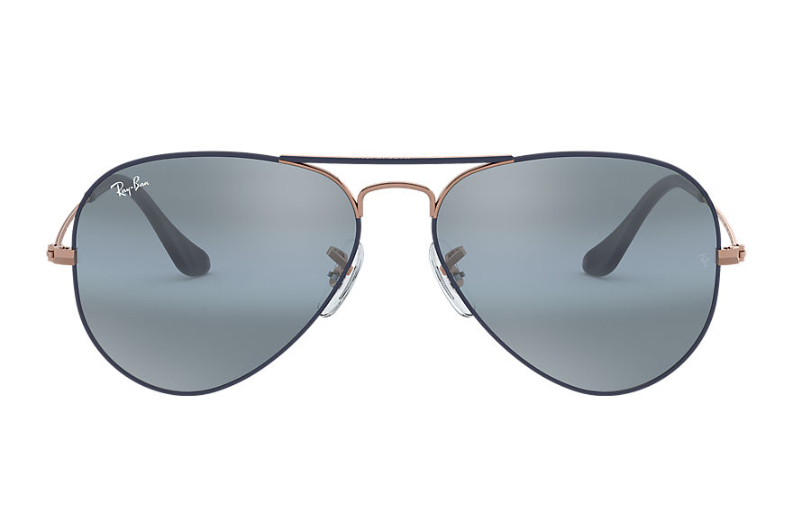 Ray-Ban  sonnenbrillen RB3025 MALE 015 aviator mirror dunkelblau 8056597044486
