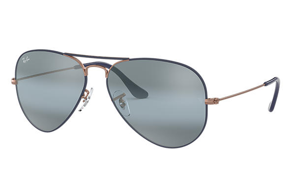 Ray-Ban 0RB3025-AVIATOR MIRROR Blu scuro; Bronzo-Rame SUN