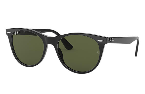 Ray-Ban Sunglasses WAYFARER II CLASSIC Gloss Black with Green Classic G-15 lens
