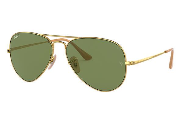 ray ban aviator polarised green