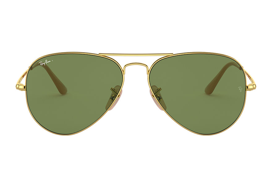 Ray-Ban Sunglasses RB3689 WASHED EVOLVE Gold with Green Classic G-15 lens