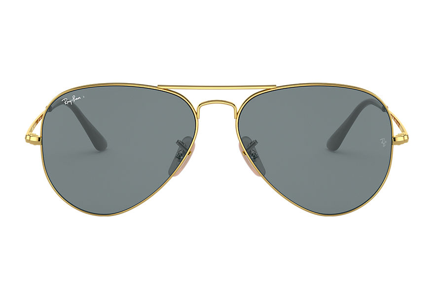 Ray-Ban  sunglasses RB3689 UNISEX 007 rb3689 złoty 8056597044882