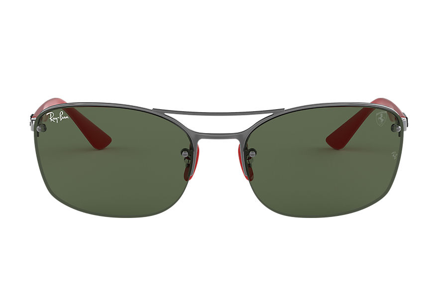 Ray-Ban RB3617M Gunmetal with Green Classic lens