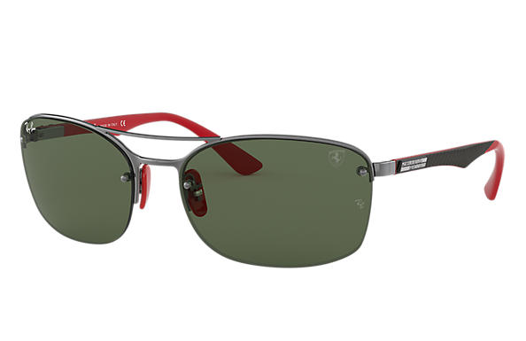 Ray-Ban 0RB3617M-RB3617M SCUDERIA FERRARI COLLECTION Gunmetal; Gunmetal,Rojo SUN