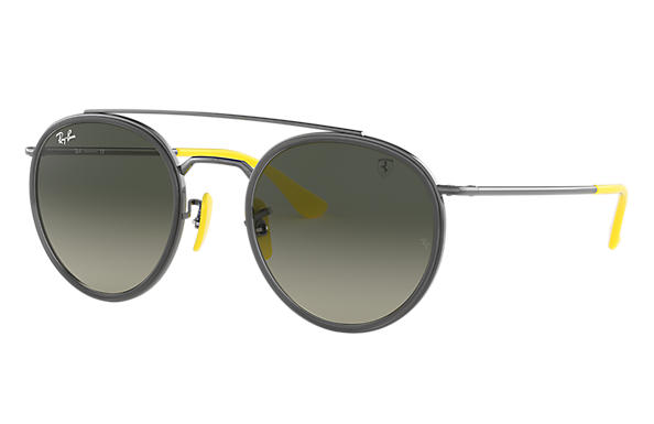 Ray-Ban 0RB3647M-RB3647M SCUDERIA FERRARI COLLECTION Metaliczny SUN