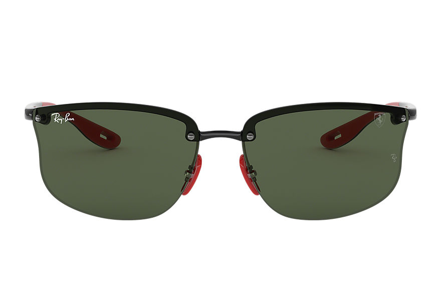 Ray-Ban RB4322M Black with Green Classic lens