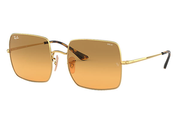 Ray-Ban 0RB1971-SQUARE 1971 WASHED EVOLVE Gold SUN