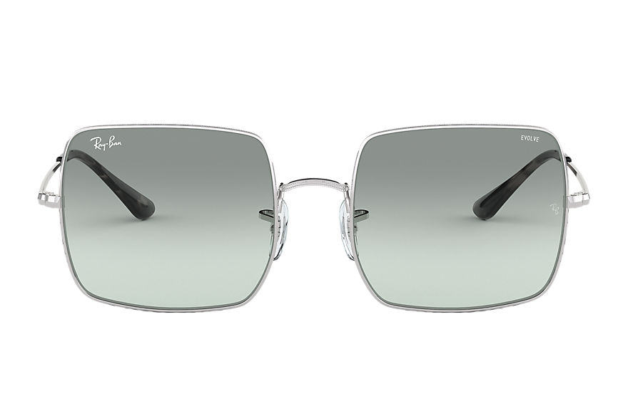 Ray-Ban Sunglasses SQUARE 1971 WASHED EVOLVE Silver with Light Blue Photochromic Evolve lens