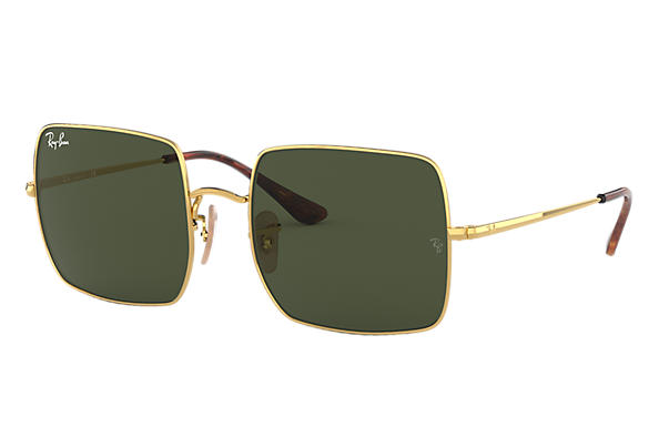 Ray-Ban Sunglasses SQUARE 1971 CLASSIC Black with Green Classic G-15 lens