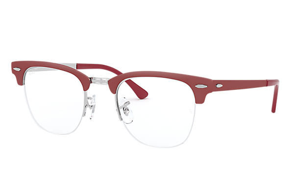 Ray-Ban 0RX3716VM-CLUBMASTER METAL OPTICS Bordeaux,Silver OPTICAL