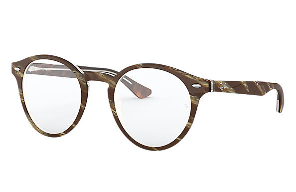 Ray-Ban 0RX5376-RB5376 Striped Brown,Brown OPTICAL