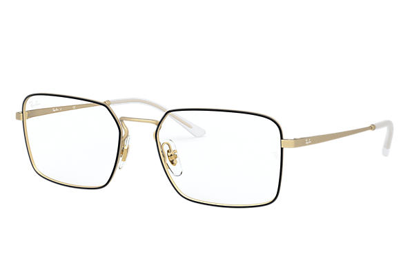 Ray-Ban 0RX6440-RB6440 Negro,Oro; Oro OPTICAL