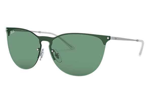 Ray-Ban Sunglasses RB3652 Silver with Green Classic lens