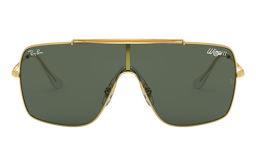 Ray-Ban Sunglasses WINGS II Gold with Green Classic lens