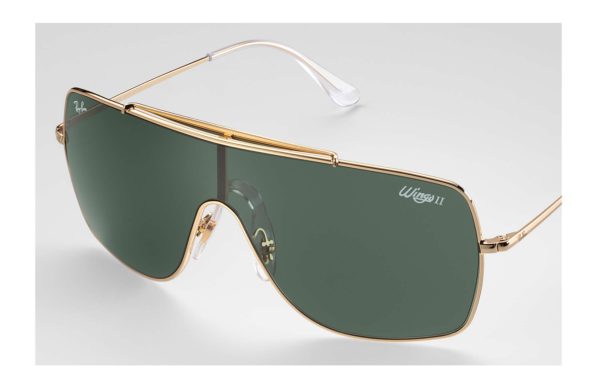 c67cb8ff89 Ray-Ban Wings Ii RB3697 Gold - Metal - Green Lenses ...