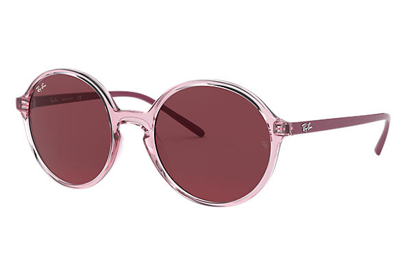 Ray-Ban Sunglasses RB4304 Transparent Pink with Dark Violet Classic lens