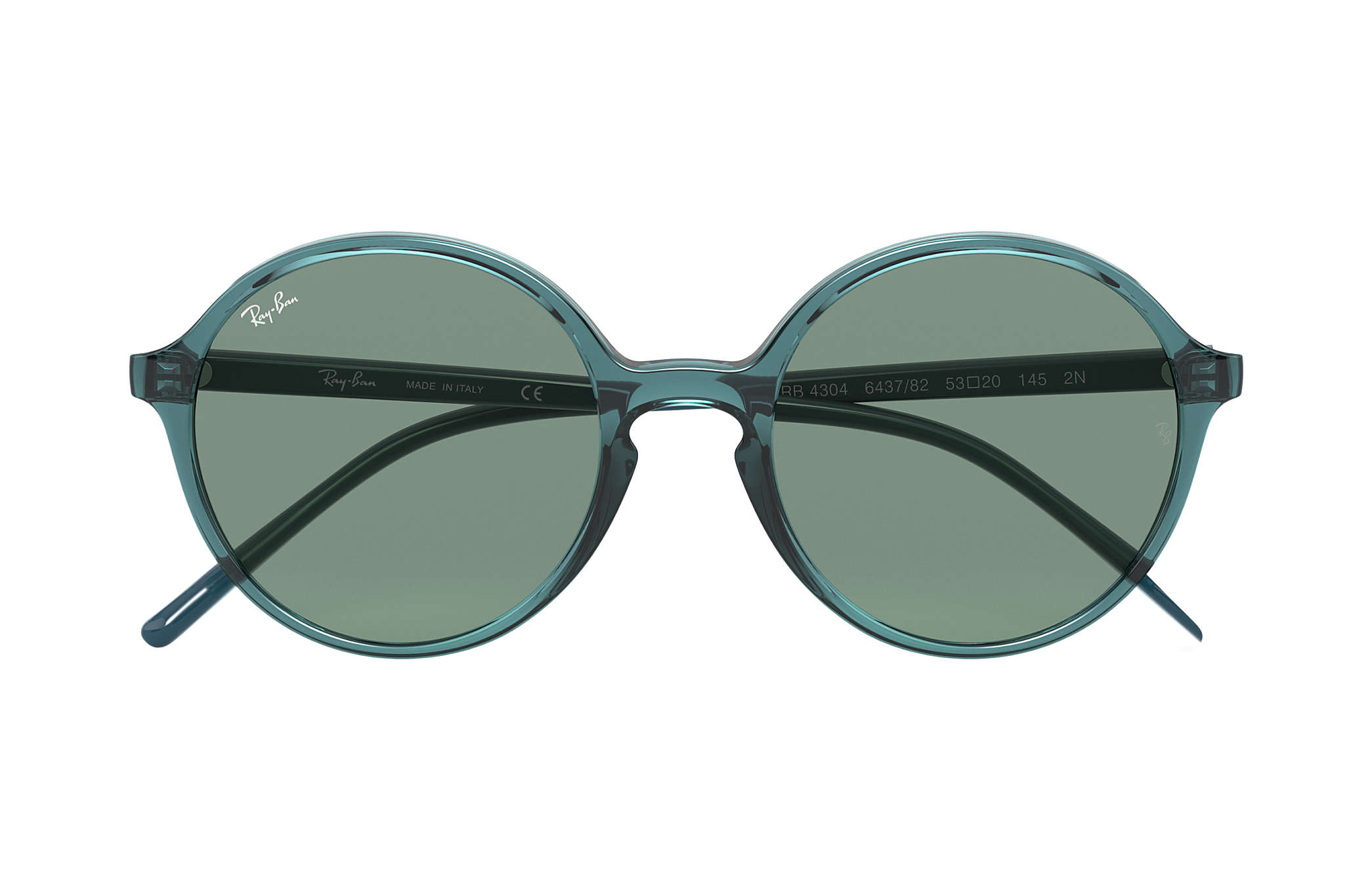 310c919e311158 Ray-Ban RB4304 Transparent Turquoise - Nylon - Green Brillenglazen ...