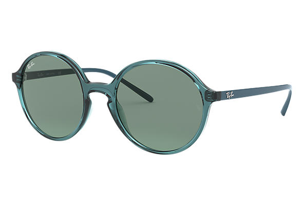 Ray-Ban Sunglasses RB4304 Transparent Turquoise with Green Classic lens