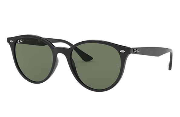 Ray-Ban RB4305 Czarny with Zielony Classic G-15 lens