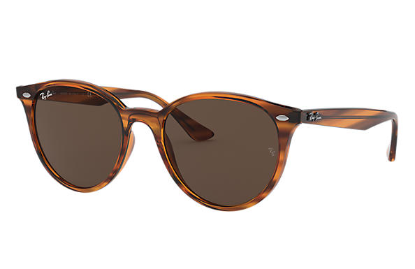 Ray-Ban 0RB4305-RB4305 Striped Red Havana SUN