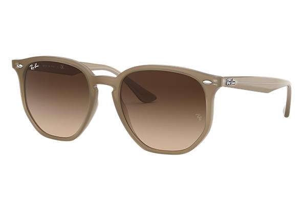 Ray-Ban Sunglasses RB4306 Beige with Brown Gradient lens