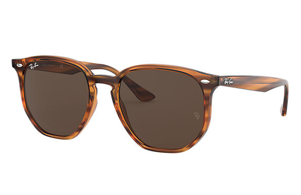 Ray-Ban 0RB4306-RB4306 Striped Red Havana SUN